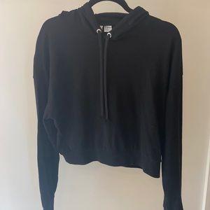 H&M cropped black hoodie